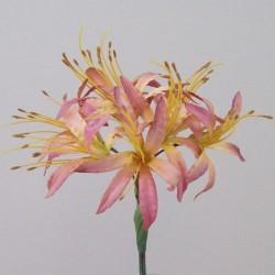 Silk Nerine Lily Vintage Apricot - N007 J3