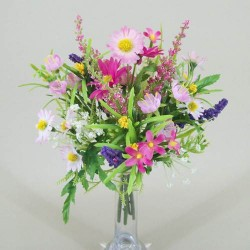 Small Artificial Daisy and Blossom Bundle Pink - D066 D3