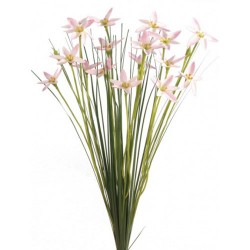 Artificial Star Flowers with Grass Pink - S091 R3