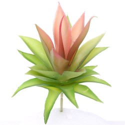 Artificial Succulents Echeveria Green Red 10cm - SUC023
