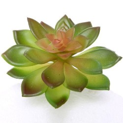 Artificial Succulents Green Red 9cm - SUC019 HH4