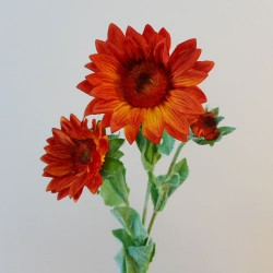 Artificial Sunflowers Spray Orange (2+1) - S031 EE1