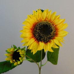Artificial Sunflower and Bud - S097