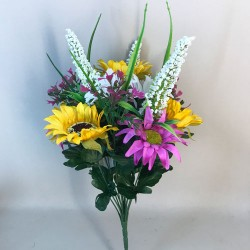 Fleur Artificial Sunflowers and Daisies Bunch Pink - S098 AA4