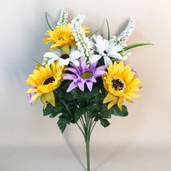 Fleur Artificial Sunflowers and Daisies Bunch Purple - S094 T4