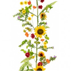 Artificial Sunflowers Garland 156cm - S038 S2