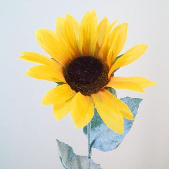 Budget Large Artificial Sunflowers Yellow - S116 KK1