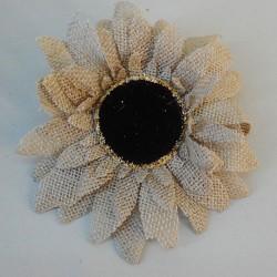 Hessian Sunflowers Beige Head Only - S019 KK2