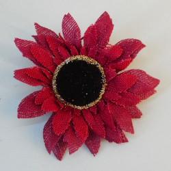 Hessian Sunflowers Red Head Only - S022 KK3