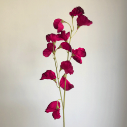 Artificial Sweet Peas Spray Aubergine Plum - S084 Q2