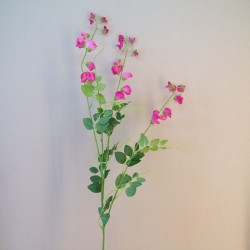 Extra Long Artificial Sweet Peas Stem Pink - S112