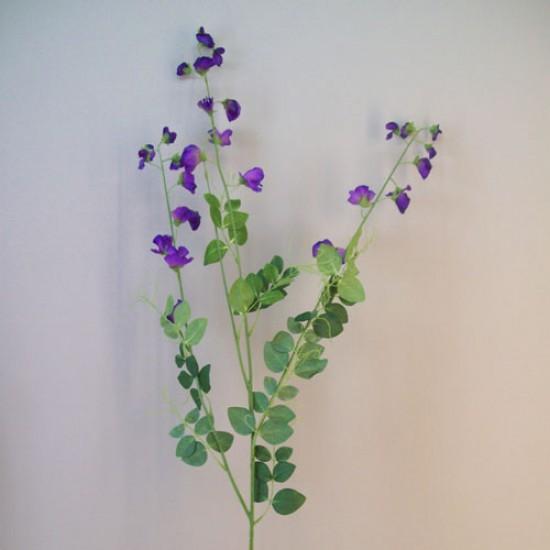 Extra Long Artificial Sweet Peas Stem Purple Flowers - S111