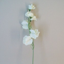 Luxury Artificial Sweet Peas Stem Cream - S104 Q2