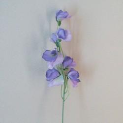 Luxury Artificial Sweet Peas Stem Lavender Purple - S105 Q2