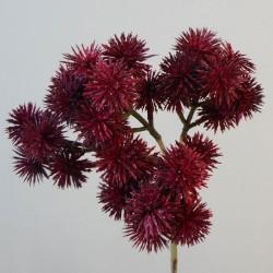 Artificial Echinops Thistle Spray Burgundy - E003 F4