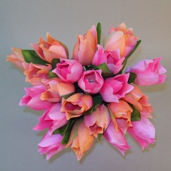 Artificial Tulips Bundle Shades of Pink and Peach - T017 BX17