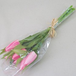 Artificial Tulips Bouquet Pink - T040