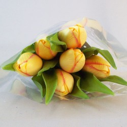 Artificial Tulips Bouquet Yellow - T006 R4