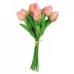 Artificial Tulips Bunch Pink - T019 Q2