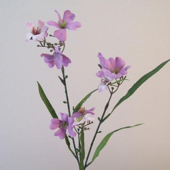 Artificial Tweedia Flowers Downton Mauve Purple - T092 T3