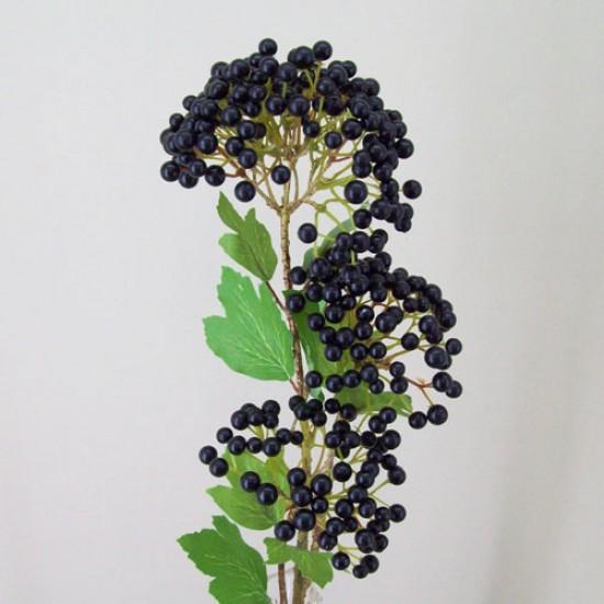 Artificial Viburnum Berries Stem - V015