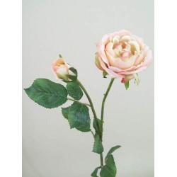 Artificial Vintage Roses Peach - R075 O3