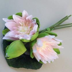 Artificial Water Lilies Bundle Pink - L014 BX12