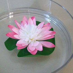 Floating Artificial Lotus Lily Pad Pale Pink - L153 I4