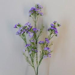 Artificial Wax Flowers Purple - W063 S2