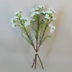 Artificial Wax Flowers Bundle White - W020 CC2