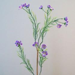 Artificial Wax Flowers Purple - W031 S2