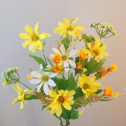 Artificial Wild Flowers Bouquet Yellow - W040 S1
