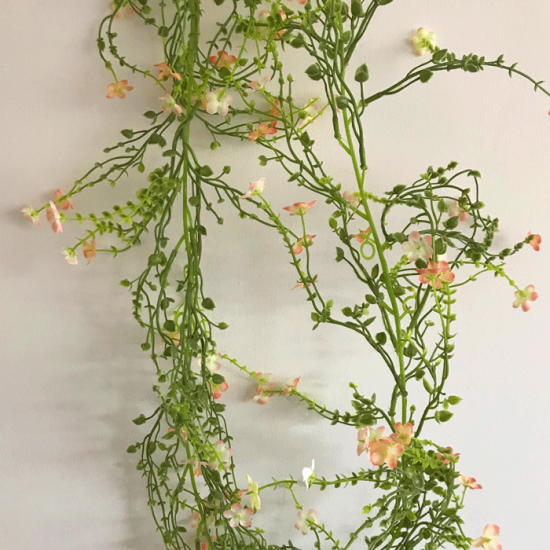 Artificial Wild Flowers Garland Peach 180cm - W056 T1
