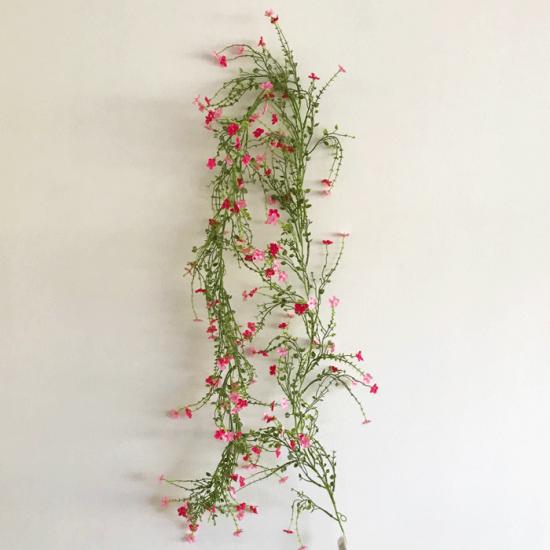 Artificial Wild Flowers Garland Pink 180cm - W055 T1