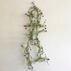 Artificial Wild Flowers Garland Purple 180cm - W054 T1