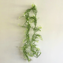 Artificial Wild Flowers Garland White Green 180cm - W057 T1