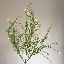 Artificial Wild Flowers Spray Peach - W052 V