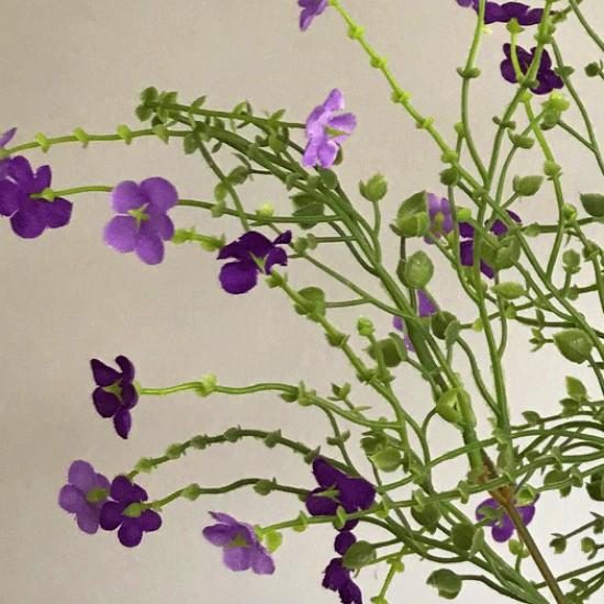 Artificial Wild Flowers Spray Purple - W053 V