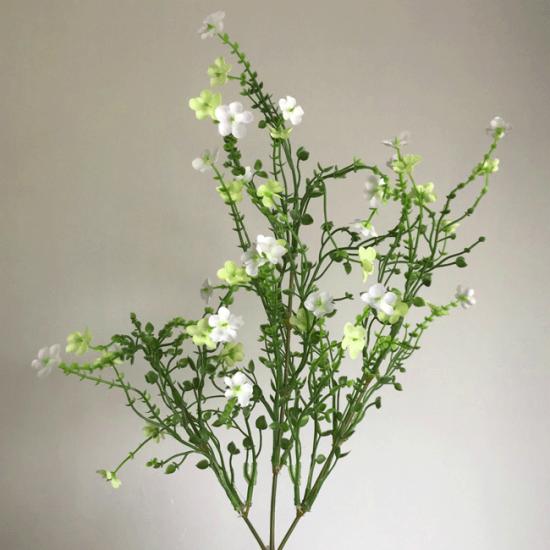 Artificial Wild Flowers Spray White Green - W050 V