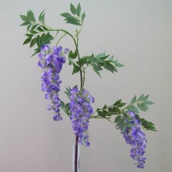Artificial Wisteria Three Purple Flowers - W021A S1