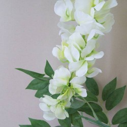 Artificial Wisteria Three White Flowers - W024A S1
