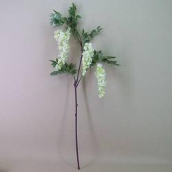 Artificial Wisteria Three White Flowers - W024A