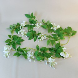 Artificial Flowers White Wisteria Garland - W043 S1
