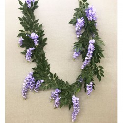 Luxury Artificial Flowers Wisteria Garland Purple 240cm - W011 S1