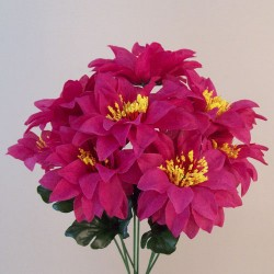 Zinnias Bouquet Carnival Hot Pink - Z035 S1
