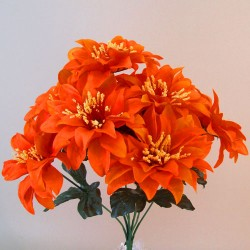 Artificial Zinnias Bouquet Carnival Orange - Z034 S1