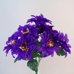 Zinnias Bouquet Carnival Purple - Z036 T1