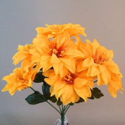 Artificial Zinnias Bouquet Carnival Yellow - Z033 S1