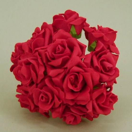 Colourfast Foam Roses Sweetheart Red 12 pack - R190 U4