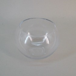 Small Fishbowl Vase Clear Glass 10cm x 12.5cm - GL032 7D